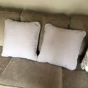 Other - Two grey throw pillows 20x20
